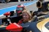 Maria de Villota en el Lotus Renault