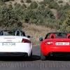 Comparativa TT cabrio y MX5 trasera