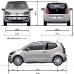 medidas VW up!