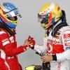 Fernando Alonso y Lewis Hamilton F1 GP Alemania 2011