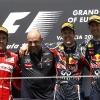 Fernando Alonso, Sebastian Vettel y Mark Webber F1 Valencia 2011