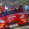 Chus Puras con el Citroen Xsara Rallye Catalunya