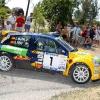 Chus Puras con el Renault Clio Rally Orense