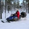 paseo moto de nieve