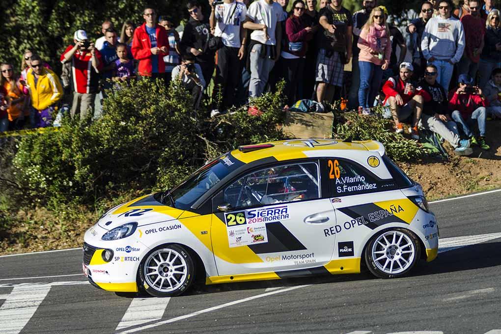 Angela Vilariño en el Rallye Sierra Morena 2015