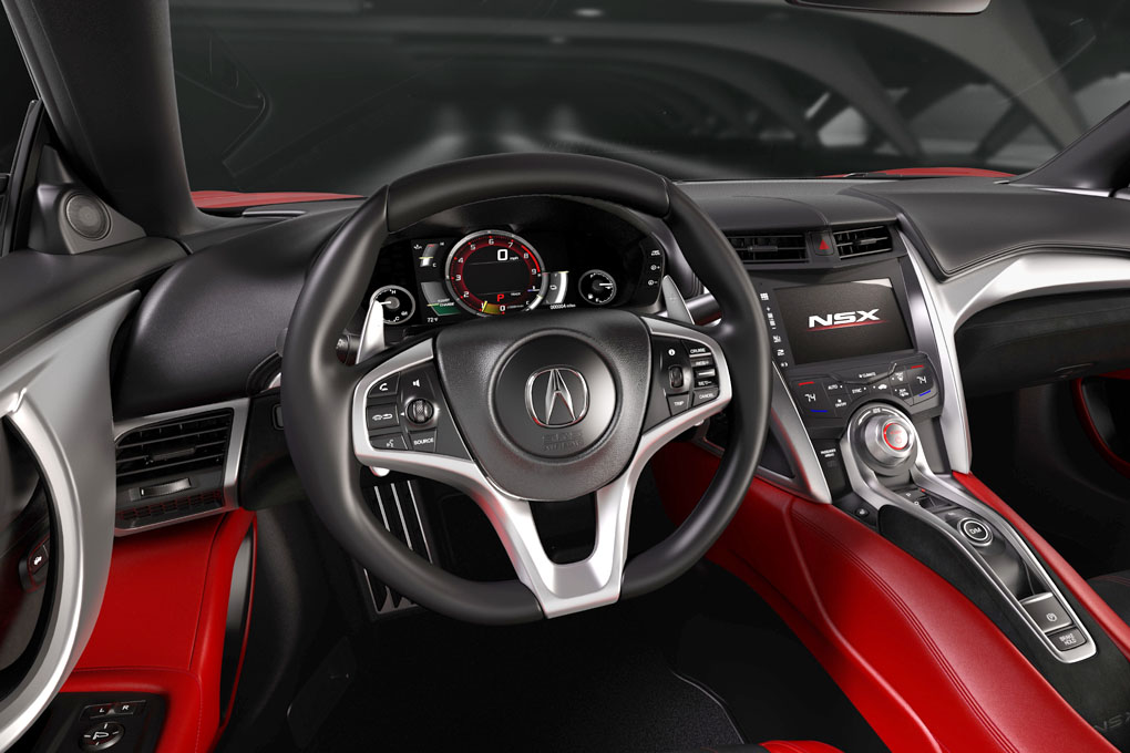 Interior del Honda NSX