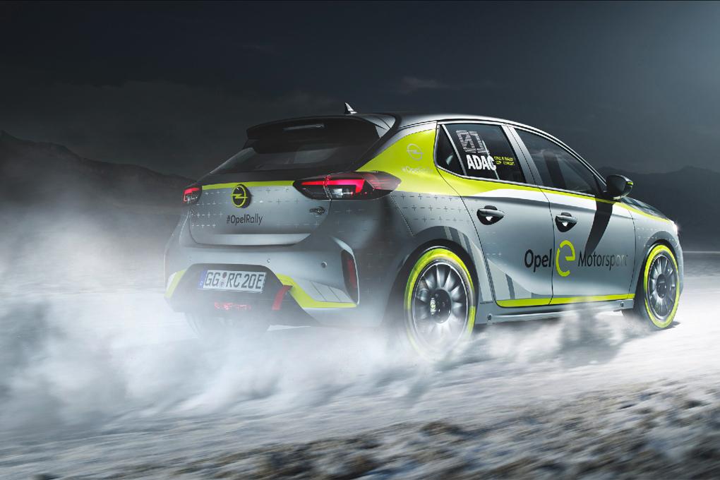 El Opel Corsa-e de Rally con el que se disputará la Copa