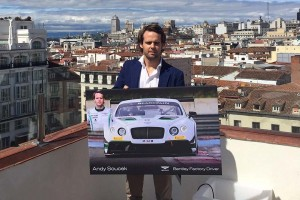 Andy Soucek en la presentación de Bentley