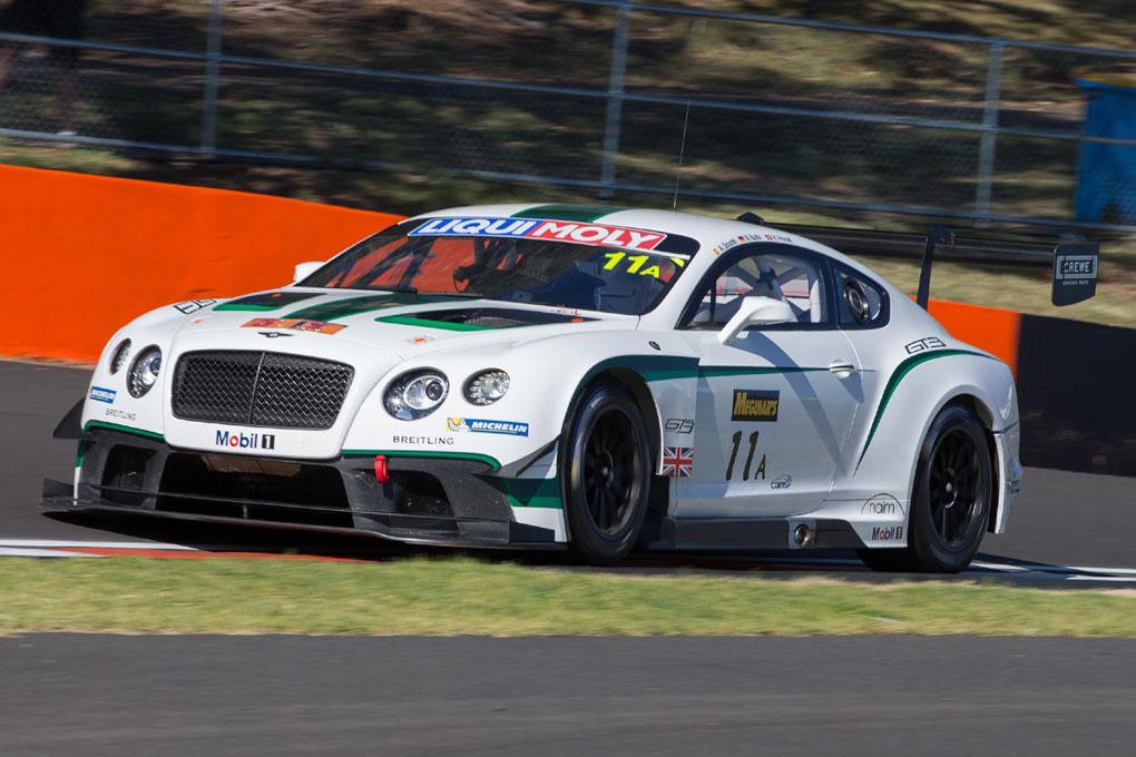 Andy Soucek con el Bentley con el que competirá este 2015