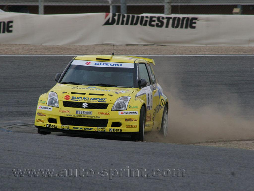 Gorka Antxustegi en el Rallye Shalymar, circuito del Jarama