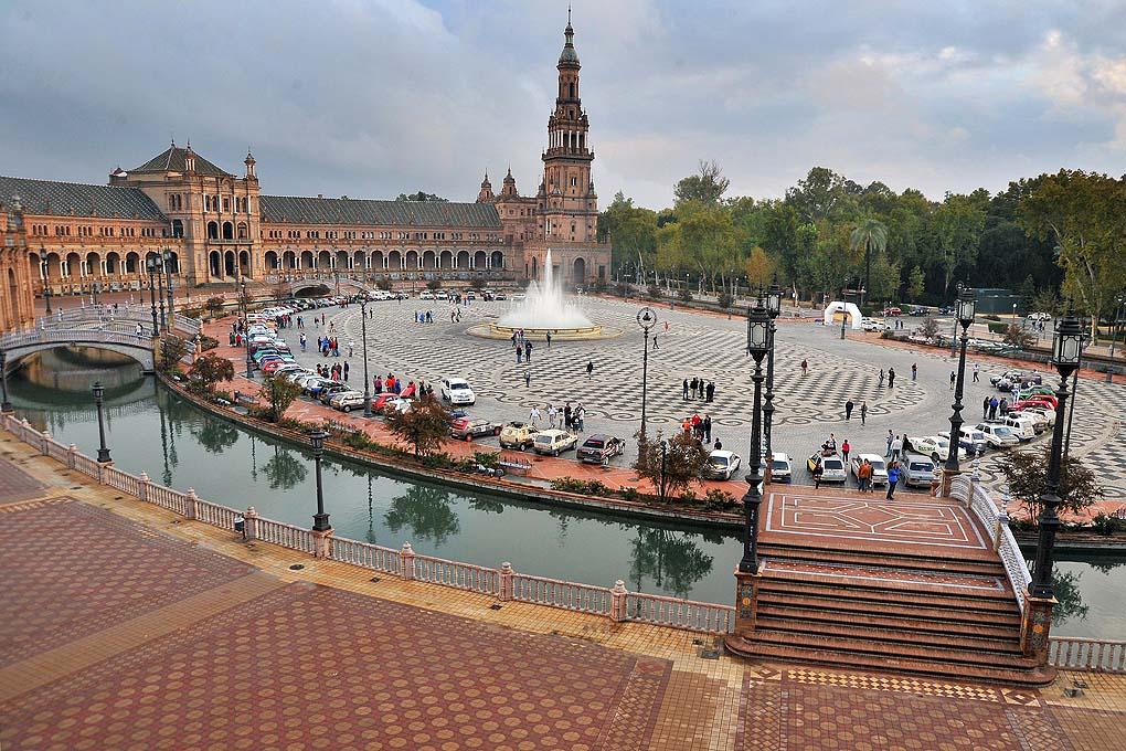 Final en la Plaza de España de Sevilla