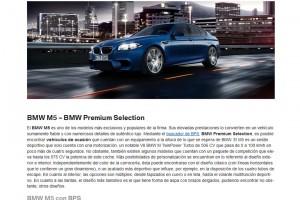 Pantalla de BMW Premium Selection