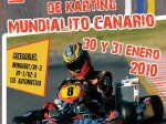 Cartel Mundialito Canario karting