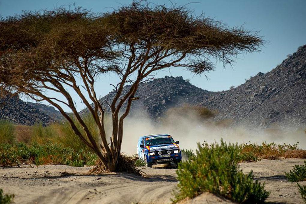 Chisco Benavente en el Dakar Classic 2021