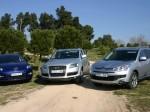 comparativa todocaminos Audi Q7, Mazda CX7 y C Crosser