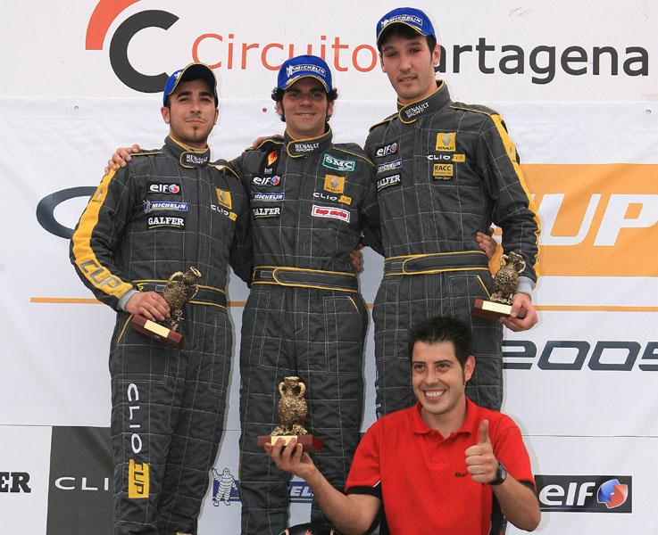Copa Clio circuitos 2009 podium