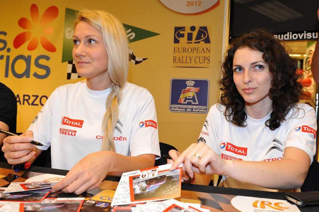 Ekatarina en el Rallye El Corte Ingles