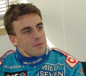 Fernando Alonso retrato 2002
