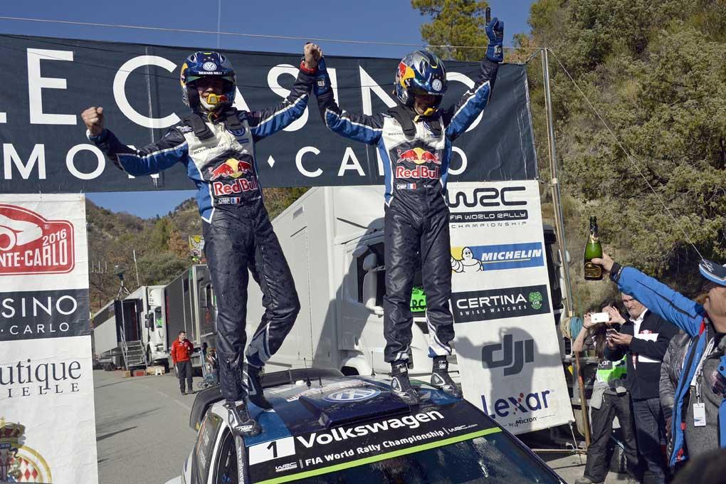 Sébastien Ogier, vencedor con el Volkswagen Polo R WRC