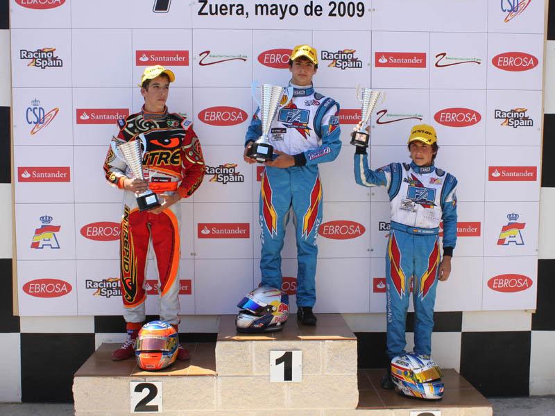 Karting Campeonato España podium