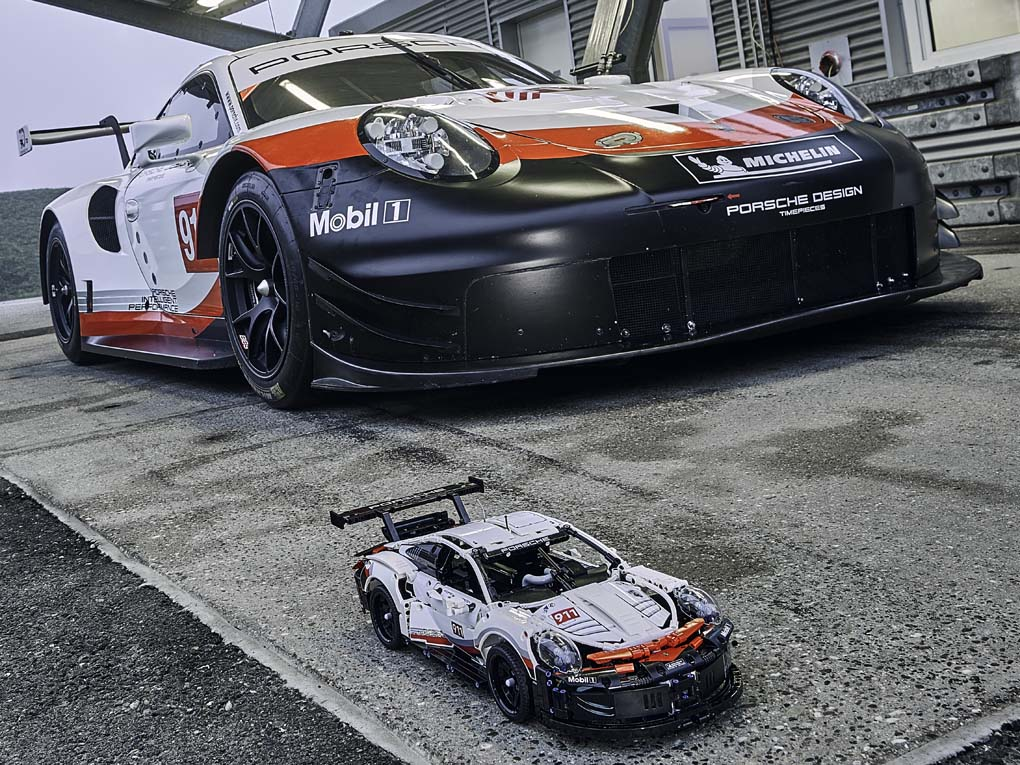 Porsche de carreras de Lego