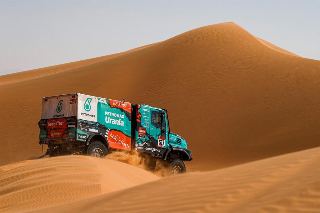 Gran actuación de Albert Llovera en este Dakar 2020 al volante del camión Iveco del Team de Rooy