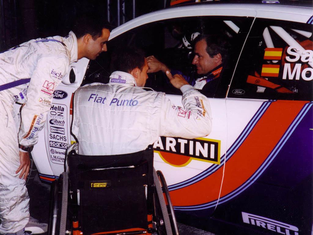 Llovera y Carlos Sainz en el Rallye Montecarlo 2002