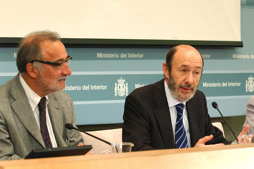 Alfredo Perez Rubalcaba y Pere Navarro