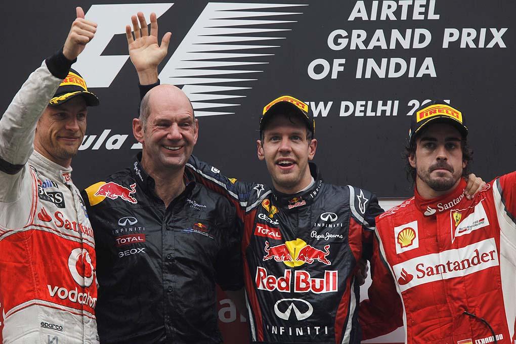 Podium F1 GP India 2011