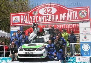 podium Rallye Cantabria 2010