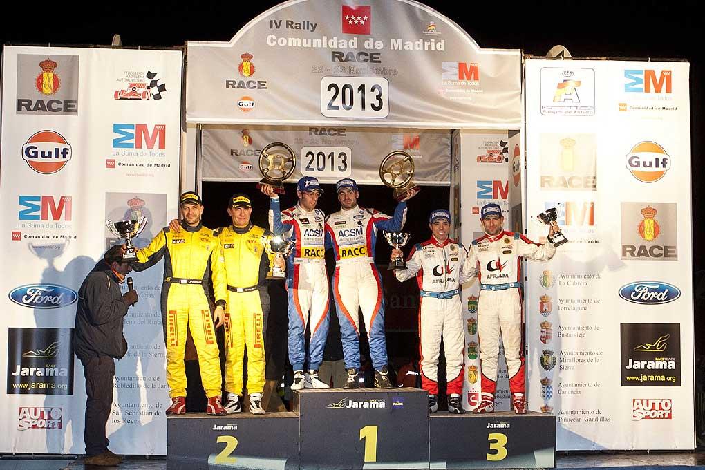 Podium Rallye Madrid 2013
