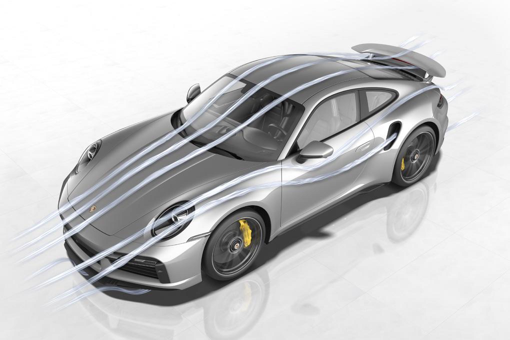 Aerodinámica en el nuevo Porsche 911