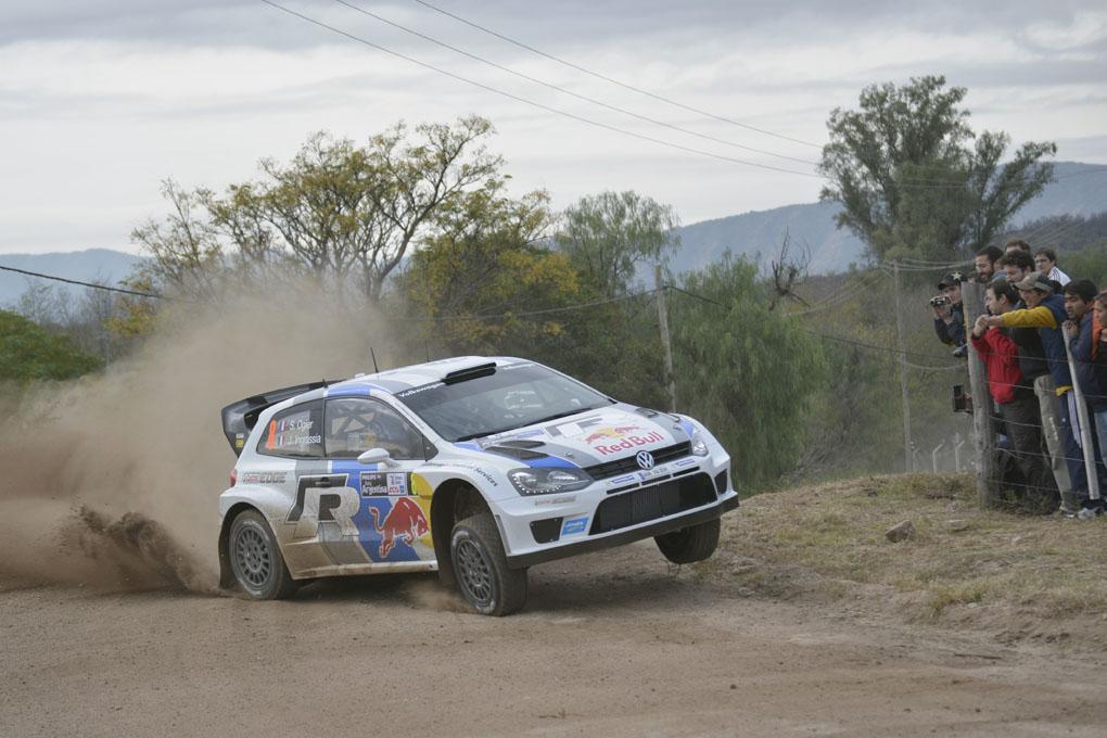 Ogier con el VW Polo WRC en el rally Argentina 2013