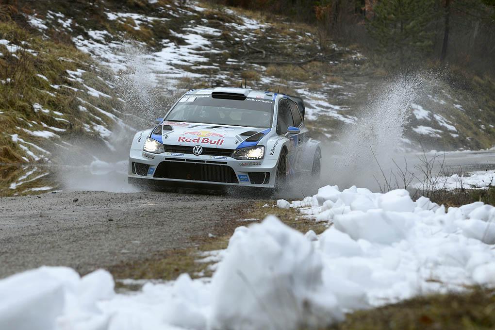 Ogier con el Volkswagen Polo R WRC