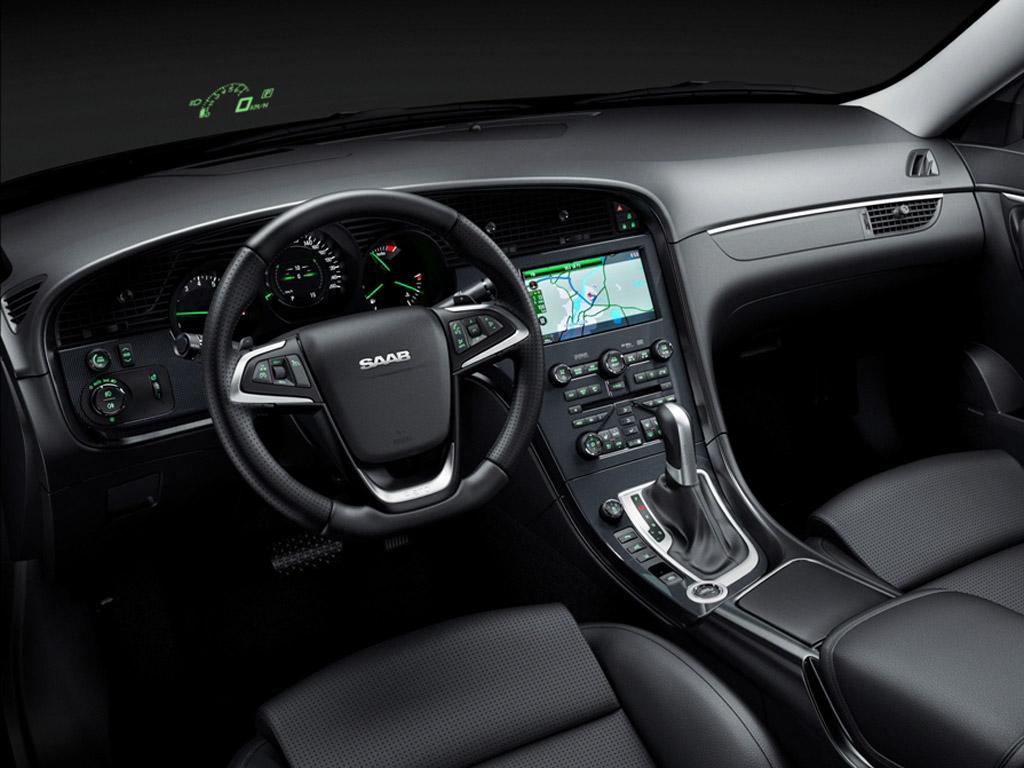 interior del Saab 9-5