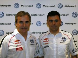 Carlos Saínz y Lucas Cruz