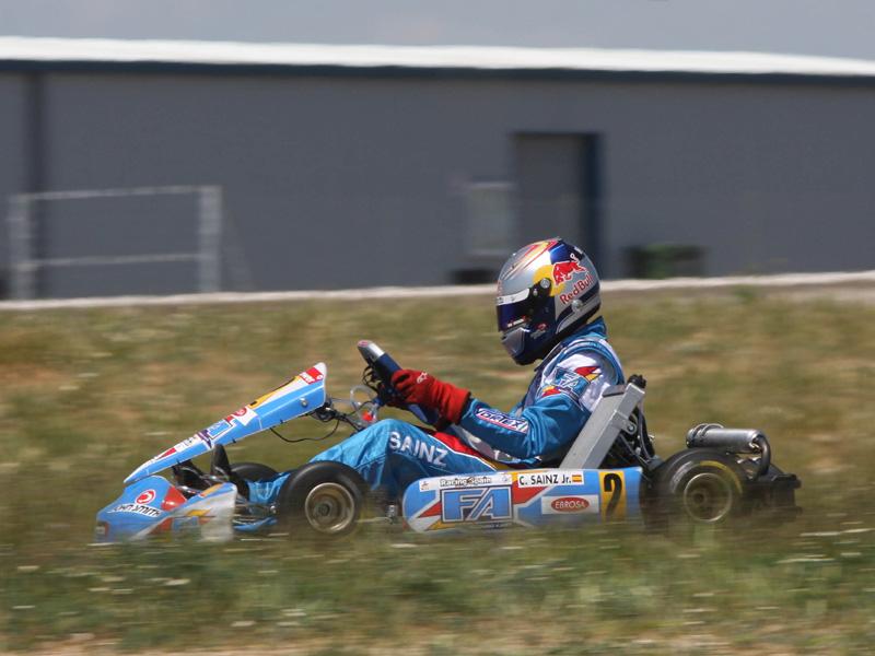 Sainz karting espanha