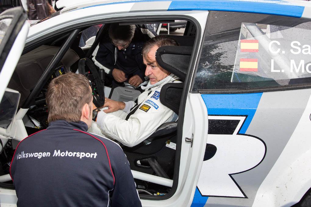 Carlos Sainz en el VW Polo WRC