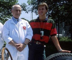 Michael Schumacher y Fangio