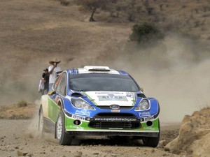 Xevi Pons durante el rally de México